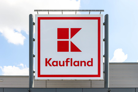 The logo of Kaufland - German international hypermarket stores chain.