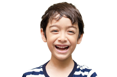 Photo for Little happy boy laugh looking at camera portrait - Royalty Free Image