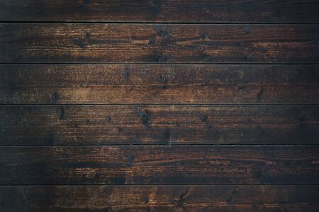 Photo for Old Vintage dark brown wooden table textured background (high details) - Royalty Free Image