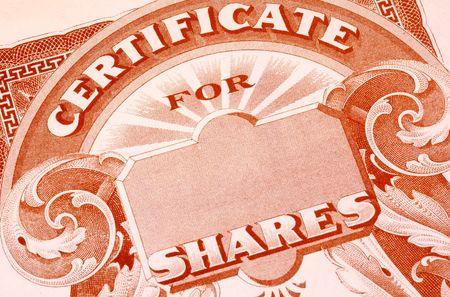 Vintage Stock Certificate