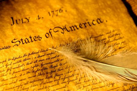 Declaration of Independence and a Feather