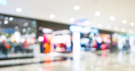 blurred background : shopping store.