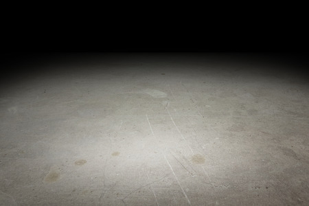 Photo for Perspective grunge concrete floor fade to black background, Template Mock up for display of product. - Royalty Free Image
