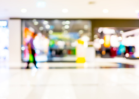 customer in store blur background with bokeh