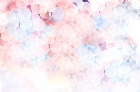 Blurred background, Pink and blue circle bokeh abstract light background.