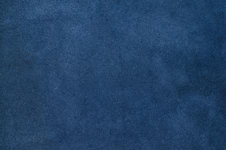 Foto de Close up blue color crumpled leather texture background. - Imagen libre de derechos