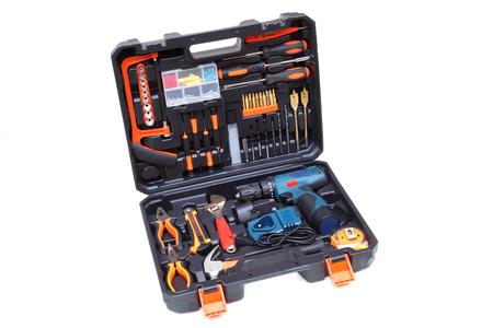 Photo pour Tool box set for mechanic isolated on white                               - image libre de droit