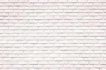Photo for White brick wall background for design and decoration - Royalty Free Image
