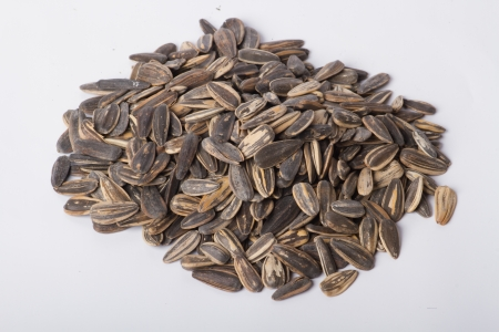 Sunflower seeds Taken on a white background