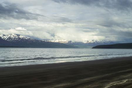 Shore near the town of Dalvik, Iceland.