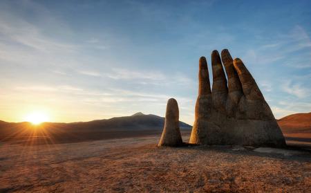 Mano del Desierto, Desert Hand, Chile, Next to Public Highway.