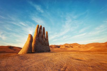 Mano del Desierto, Desert Hand, Chile, Next to Public Highway