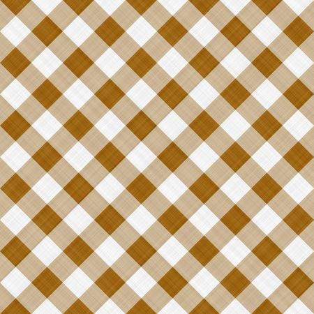 seamless texture ofsepia brown and white blocked tartan cloth
