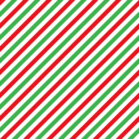 Illustration for Cane candy diagonal stripes red green white seamless pattern christmas background - Royalty Free Image
