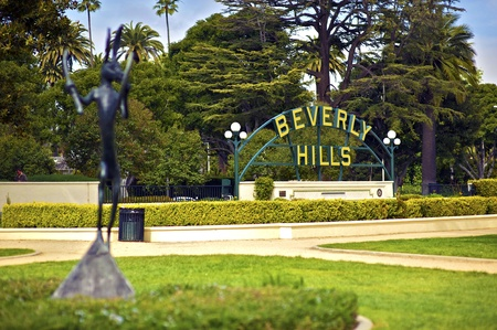 Beverly Hills California  Beverly Hills Sign in the Park  Horizontal Photo