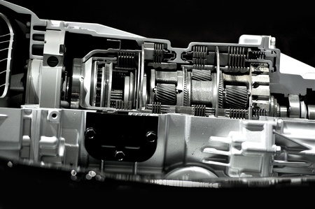 Automatic Transmission   Gearbox Section  Inside Modern Automatic Transmission  Cars Technology  Black Solid Background