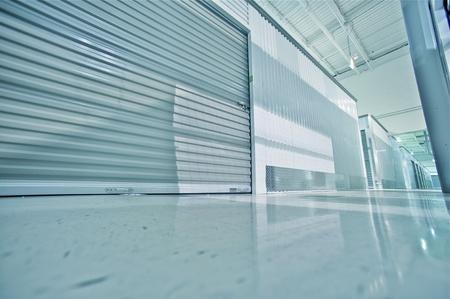 Storage Facility - Storage Hallway  Storage Lockers - Units  Wide Angle Floor Level Photography