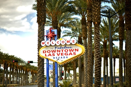 Downtown Las Vegas Nevada, USA  Welcome Sign  Welcome to Fabulous Downtown Las Vegas Nevada