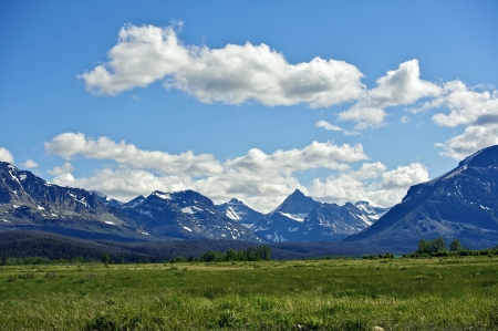 Montana\'s Rocky Mountains. Mountains Range Landscape. Montana, USA. Nature Photo Collection.