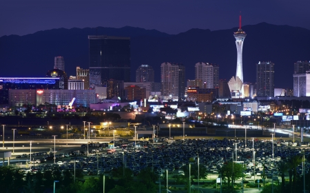 Downtown Las Vegas, Nevada, USA. Vegas at NIght. Sleepless City. American Cities Photo Collection