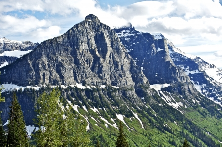 Montana Rocky Mountains - Scenic Montana USA. Glacier National Park. Nature Photo Collectio