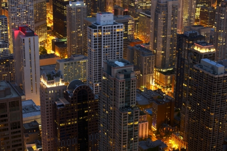 Chicago at Night Scenery. Do