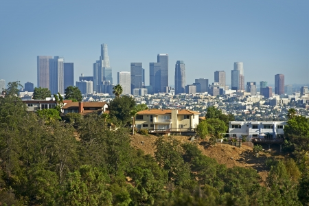 Downtown Los Angeles in a  Distance. Souther California, USA.