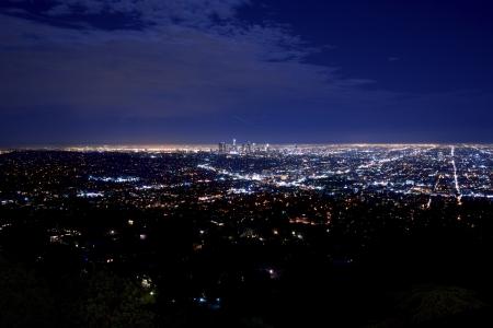 Night City Panorama. Los Ang