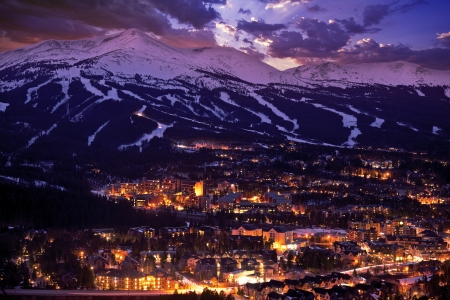Breckenridge Winter Sunset. The Town of Breckenridge Was Formally Created in November 1859. Colorado Photo Collection.