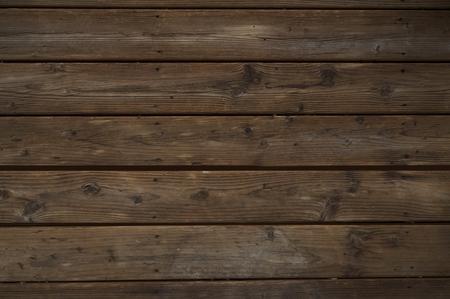 Foto de Reclaimed Dark Wood Background. Horizontal Old Weathered Planks. - Imagen libre de derechos