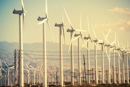 Photo for Wind Turbines at Coachella Valley Wind Farm. - Royalty Free Image