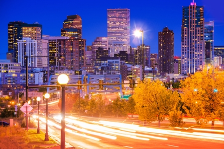 Denver Evening Traffic - Denver Commute After Dark, City in Motion