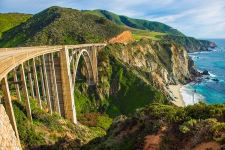 Bixby Creek Bridge in Big Sur, California, United States. Scenic California Highway