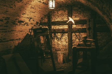 Torture Chamber in Niedzica Castle Located in Lesser, Poland
