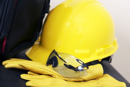 Head and Eyes Protection Equipment For Construction Zone.