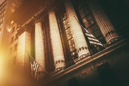 Photo pour New York Stock Exchange Building. New York Lower Manhattan Financial District. - image libre de droit