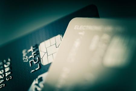 Photo pour Credit Cards Closeup Photo. Financial and Banking Concept - image libre de droit