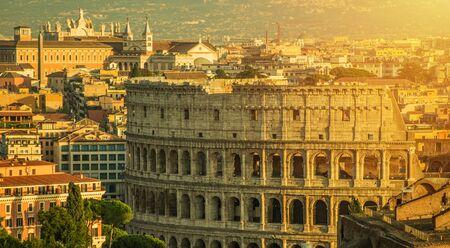 Foto per Rome Italy and Colosseum Cityscape. Popular European Destination. Italian Ancient Architecture. - Immagine Royalty Free