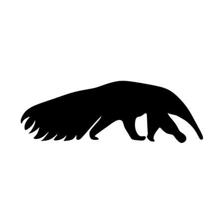 Illustration pour anteater animal silhouette vector art - image libre de droit