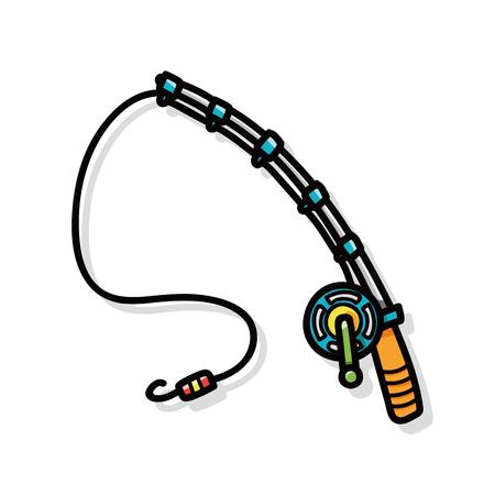 Fishing rod doodle