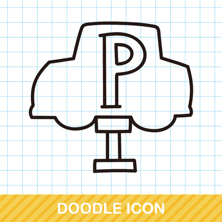 Bus stop doodle: Royalty-free vector graphics