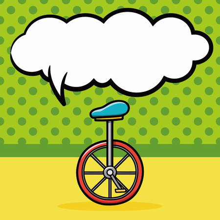 Unicycle doodle, speech bubble