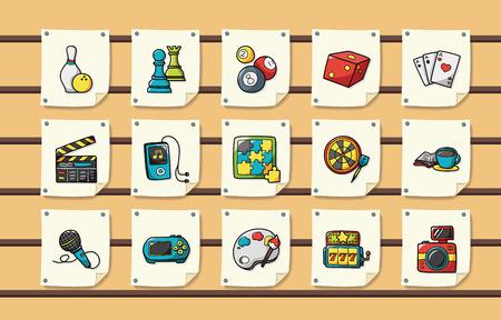 Illustration pour Leisure and hobby icons set - image libre de droit