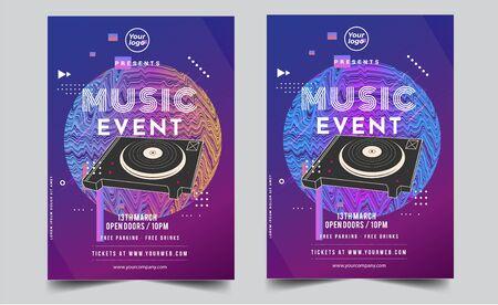 Illustration pour Dance Club Night Party Flyer Brochure Layout Template. Club Party Banner design. Vector illustration - Vector - image libre de droit