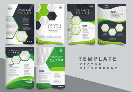 Illustration pour Vector eco flyer, poster, brochure, magazine cover template. Modern green leaf, environment design - image libre de droit