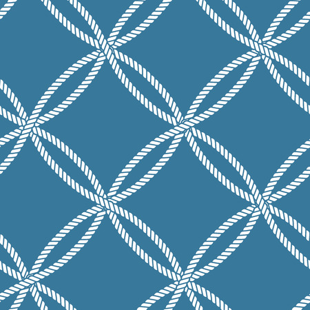 Seamless nautical rope knot pattern