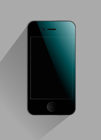 Modern touchscreen phone with a bluish sheen