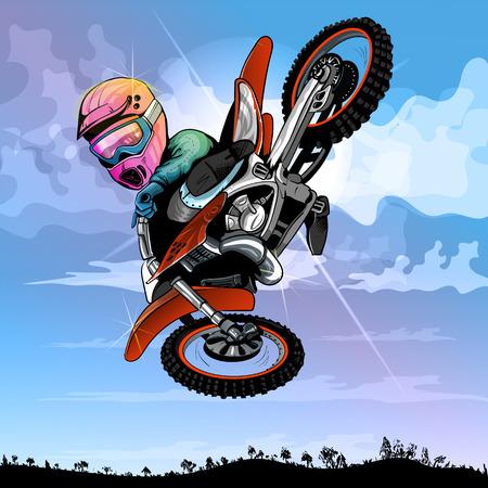 Illustration pour motocross cartoon, funny, for any fresh ideas EPS 10 - image libre de droit