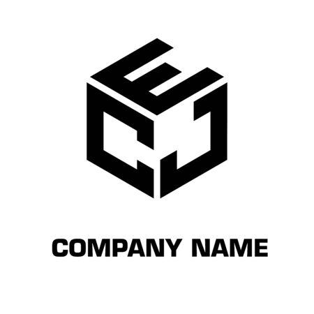 Photo pour Logo initial letter with hexagon concept vector symbol icon identity company - image libre de droit