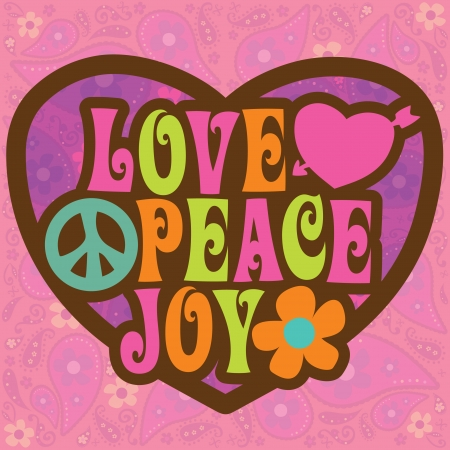 Seventies Love Peace Joy Design Vector (more in portfolio)